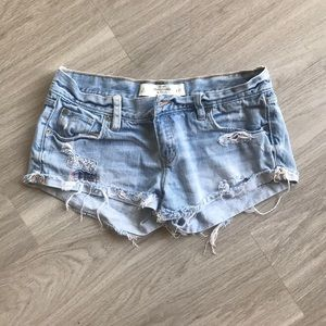Abercrombie & Fitch Blue jean cut off shorts